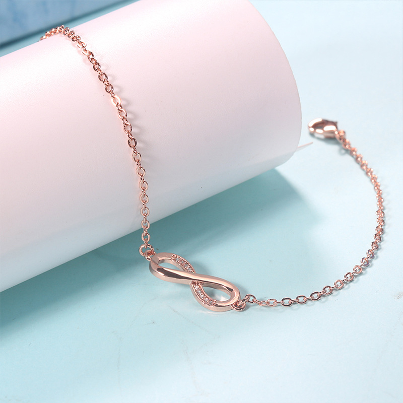 Minimalist Lucky Number 8 Link Chain Charm Infinity Love Bracelet For Women Adjustable Braslet Jewelry Wedding Souvenirs Gift