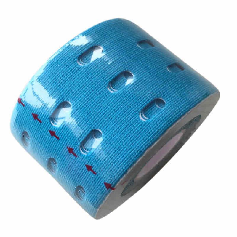 Cinta de kinesiología de 5 cm con agujeros para el cuidado deportivo