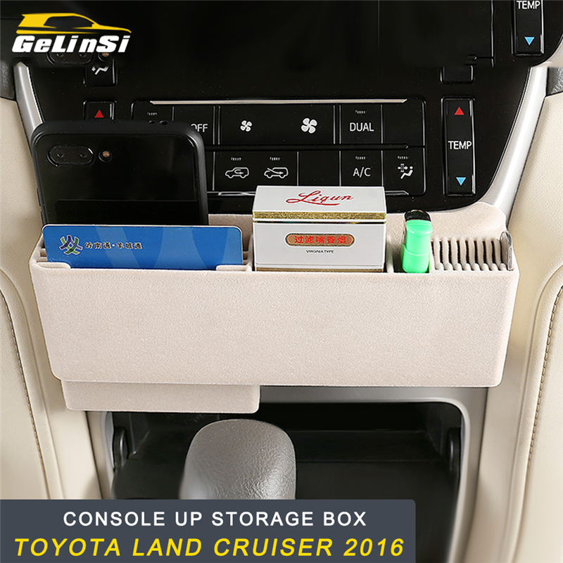GELINSI siège avant rangement organisateur boîte panneau couverture cadre autocollant accessoires intérieurs pour Toyota Land Cruiser 2016 voiture style