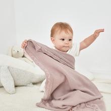 بطانيات أطفال 100% ٪ قطن منسوج لحديثي الولادة غطاء سرير للأطفال الرضع بلون واحد غطاء سرير للأطفال