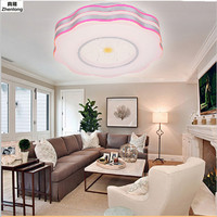 Pink Lotus Cozy Bedroom Lighting Child Compartment Lamp 24W AC220V Ceiling Light 5730 SMD 48 Leds Ceiling Lamp Modern Baby