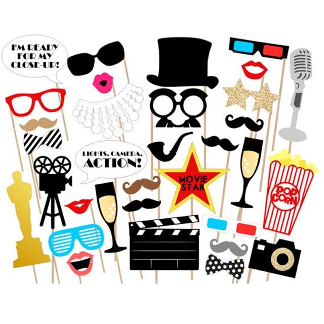 Aliexpresscom Buy 33pcs Oscar Photo Booth Props Party Glasses