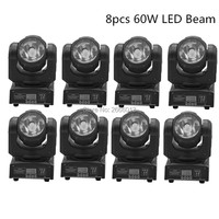 8pcs 60W LED Spot Moving Head Light Dj Controller LED Lamp Light 60W Beam Wash Effect