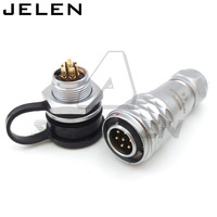Original WEIPU SF12 Series 12mm Waterproof Connector 7 Pin Plugs And Sockets Automotive Connectors LED Power