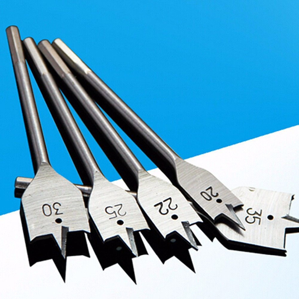 6-35mm Flat Drill Long High-carbon Steel Wood Flat Drill Set Spade Drill Bits Durable Woodworking Six In One Tool Sets All Size