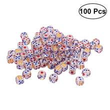 100PCS Acrylic Dices 6 Side Transparent Dices for Tile Games KTV Party Bar Gaming toys(China)
