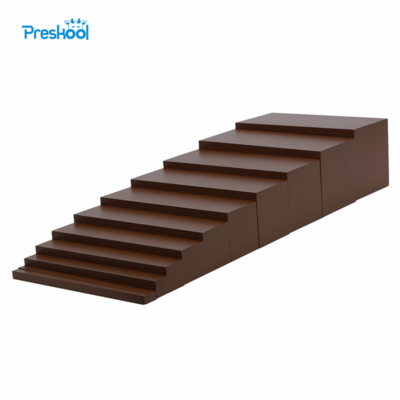 Montessori Brown Stairs Baby Toy Early Childhood Education Preschool Kids Brinquedos Juguetes montessori wooden science material solar system early childhood education toy for family preschool teaching aids