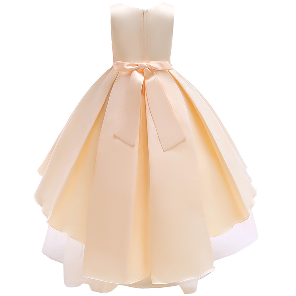 MUQGEW girls teenage clothes Sleeveless Flowers Irregular Splicing Mesh Skirt Dress Skirt Princess Tutu kerst truien y2