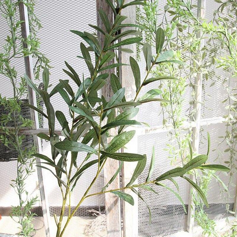 20 шт. 103 см европейские листья оливы для отеля и свадьбы искусственные растения оливковое дерево ветви лист украшения дома аксессуары