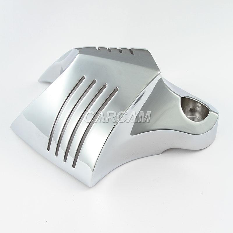 Chrome V-Shield Horn Cover For Harley Davidson Fatboy 2004-2011 2005 2006 2007