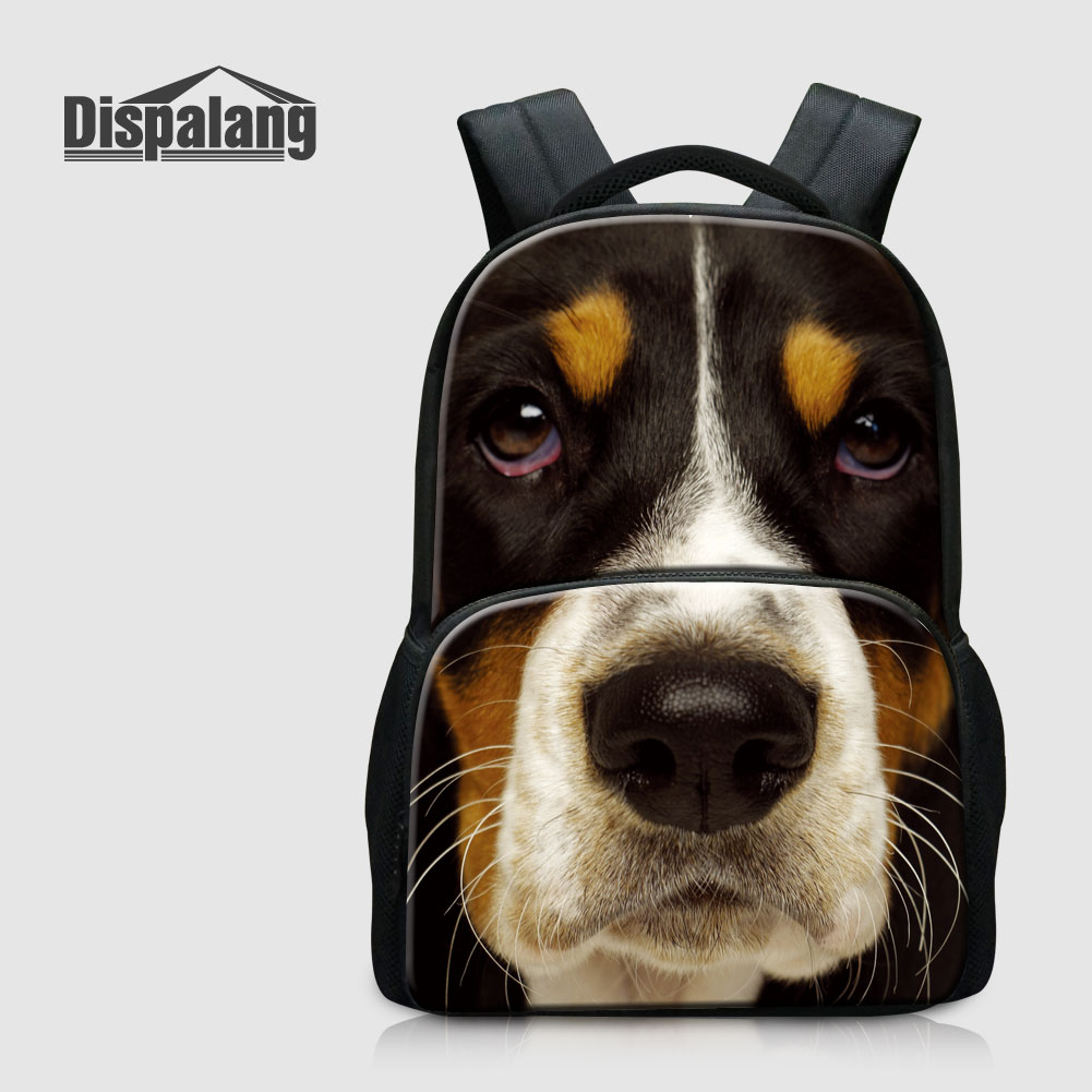 Dispalang Animal School Bags For Children 17 Inch Canvas Bookbag For Teenagers Dog Backpack Schoolbags Mochilas Women's Rucksack монитор aoc i2475pxqu