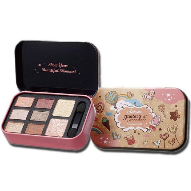 1Pc Smoky Eye shadow 8 Colors Eyeshadow Palette Earth Warm Color Shimmer Beauty Makeup Set Y1-5