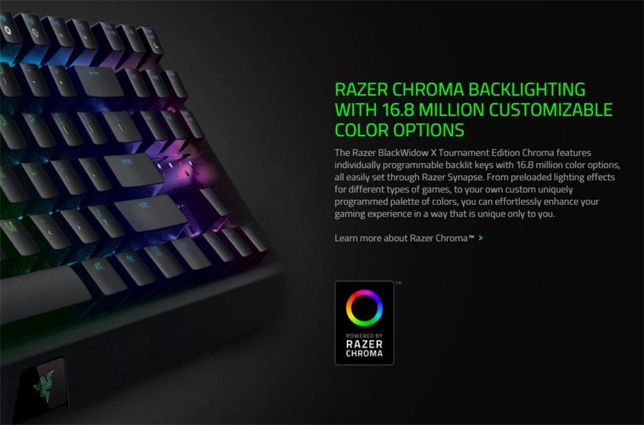 Razer BlackWidow X Tournament Edition Chroma Wired Mechanical Gaming  Keyboard 87Keys Green Switch RGB Backlight Keyboard