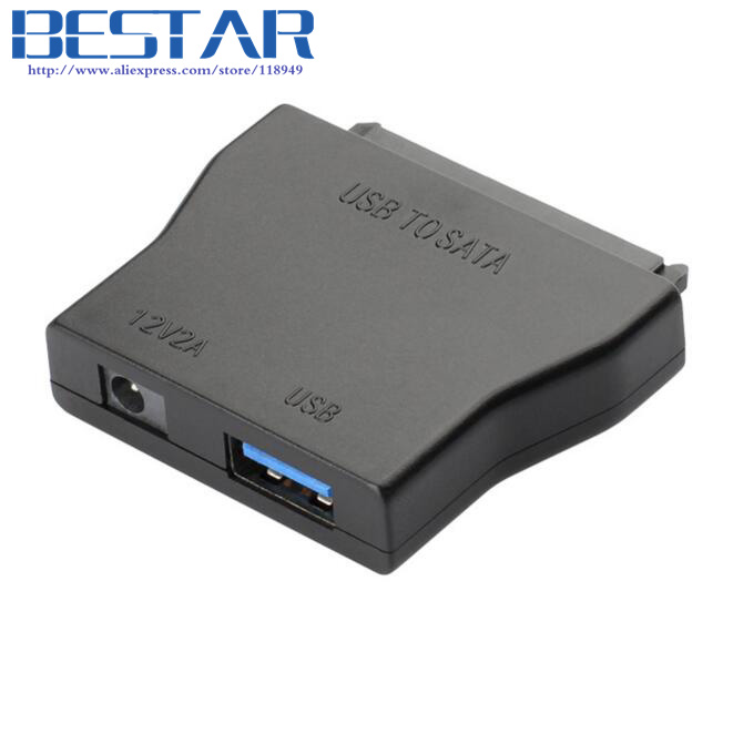 USB 3.0 to Sata Converter Cable With EU or US 12V 2A Power Adapter For 2.5&3.5 Hard Drive HDD SATAI SATAII SATA3 Connector