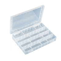 Multi Purpose Case Plastic Box Shockproof Component Storage Box PP Material With 40 Squares 252x182x40