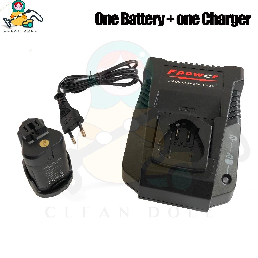 oem battery & charger for bosch psb 10.8 li 2 psr 1080 li pmf psm