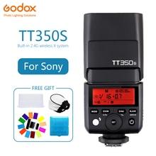 Godox Mini TT350 TT350S Speedlite flaş TTL HSS 1/8000 s 2.4G kablosuz kamera fotoğraf sony A7 A6000 a6500 A7RII A7R