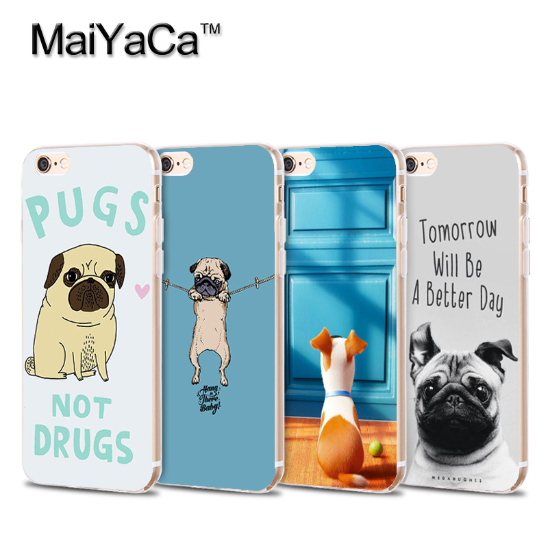 Laumans On Sale! Luxury Cool Phone Case For iPhone 6s plus 6plus Case Cute Pugs Not Drugs dogs