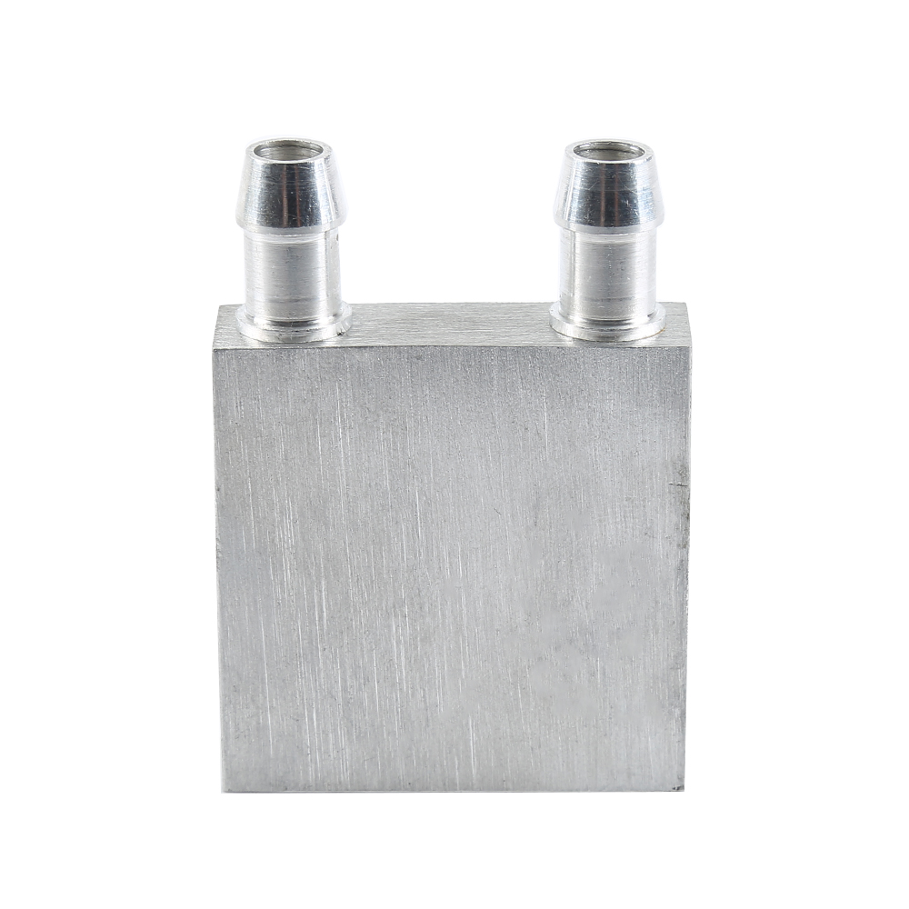 New 40x40mm Silver Block Liquid Cooler Water Cooling Heatsink for CUP Computer Part 40 80 12mm aluminium water cooling waterblock heatsink block liquid cooler for cpu gpu laser head industrial control cabinet