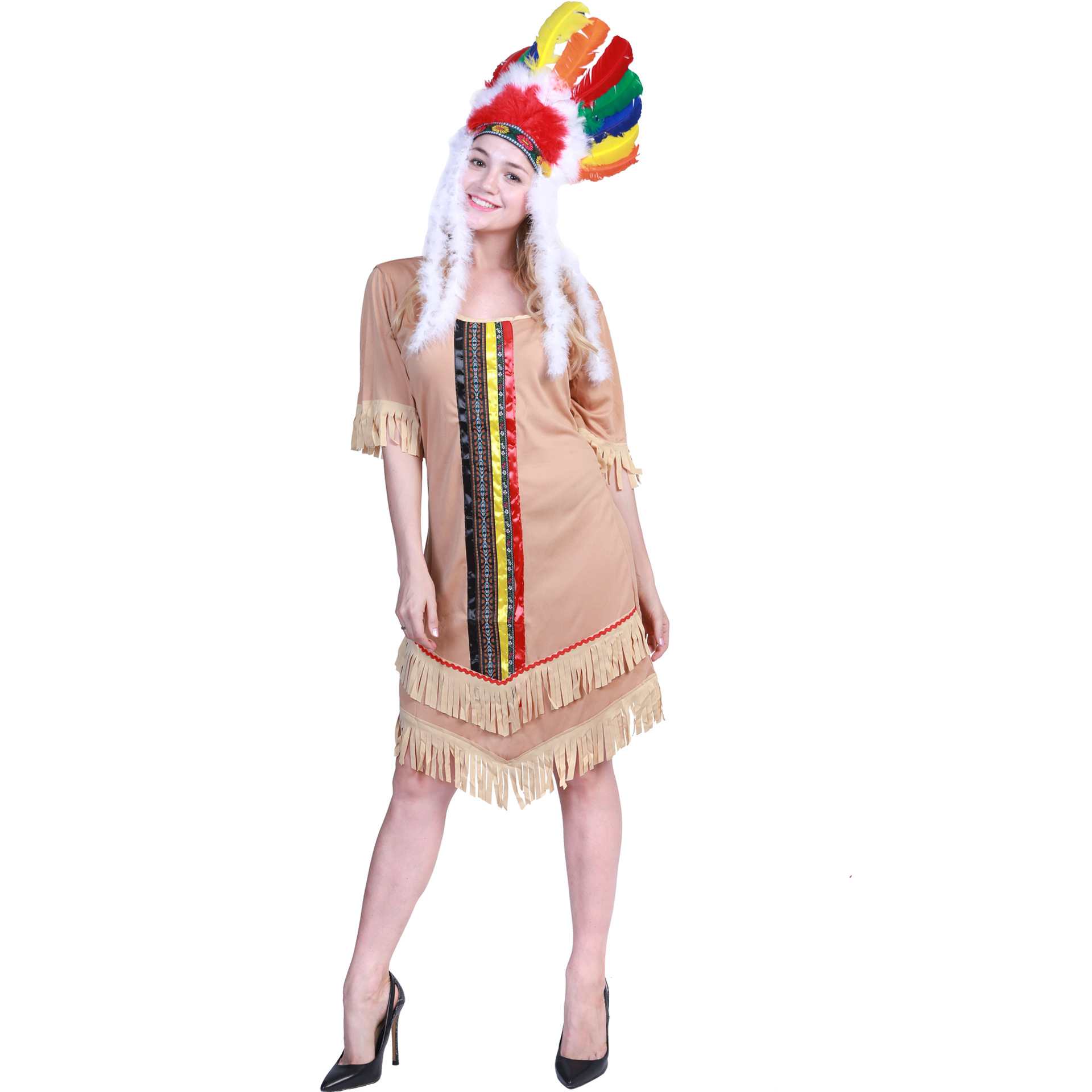 Carnival Party Native American Indian Ladies Dresses Halloween Costumes for Women Fancy Dress Girls Cosplay