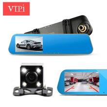 Два объектива камеры Авто dvrs видео регистратор автомобили dvr зеркало заднего вида full hd1080p ночное видение видеорегистратор видеокамера