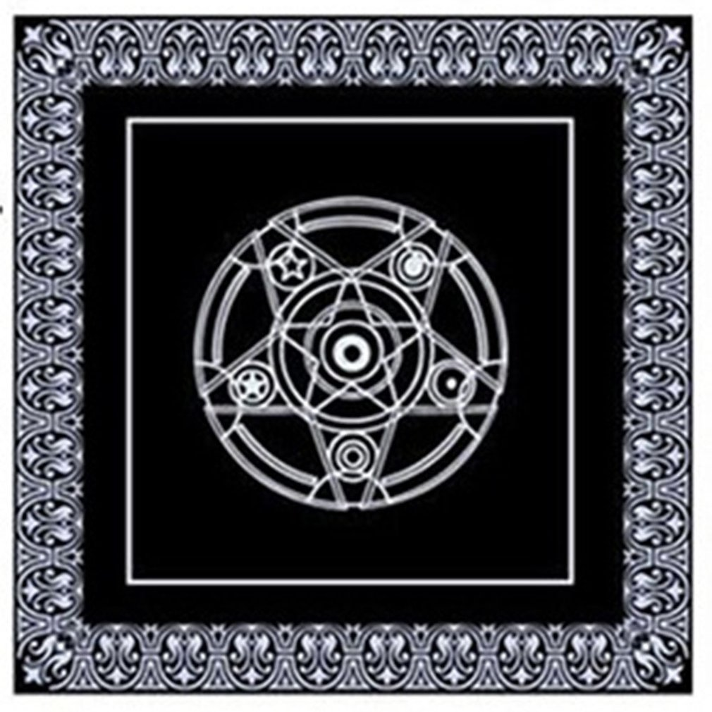 Non-woven Board Game Textiles Tarot Table Cover Playing Cards Pentacle Tarot Game Textiles Table Cloth Hot Sale Dropshipping