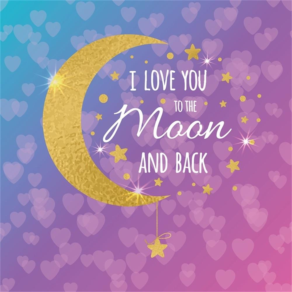 Us 425 24 Offlaeacco Bulan Cinta Hati Payet Glitter Bintang Berdoa Kata Kata Bayi Latar Belakang Foto Disesuaikan Fotografi Latar Belakang Untuk