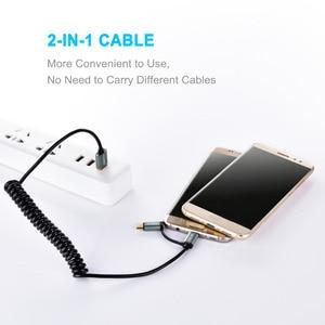 Image 3 - كابلات الشحن السريع من CHOETECH كابل ميكرو 2 في 1 + كابل USB من النوع C لهواتف سامسونج وكابل الهاتف المحمول نوكيا N1