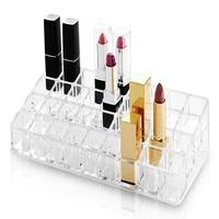 new 36 grids Acrylic Lipstick display holder Nail Polish holder Cosmetic Storage Cases Makeup Organizer desktop storage box