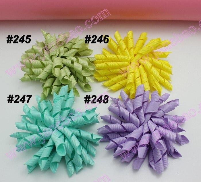 45 шт. 3,5 дюймов коркер банты(для шитья) смешанные цвета бант для волос korker красочные девушки заколки для волос korker клипсы