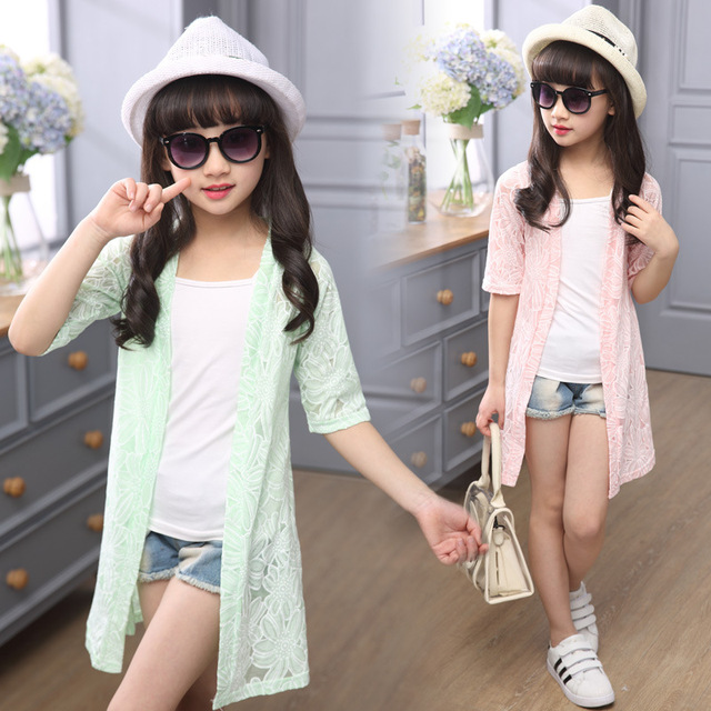 ca7408bc3 Lotus Child Girls Air Conditioning Coat 2018 New Summer Long Soft ...