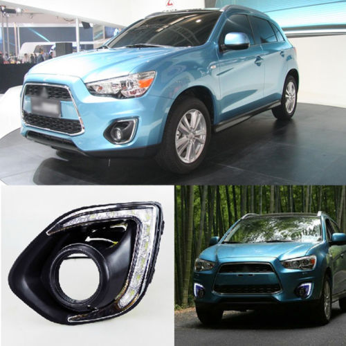 Combo In 1 White Yellow Turn DRL LED Daytime Run Lights for Mitsubishi ASX 13