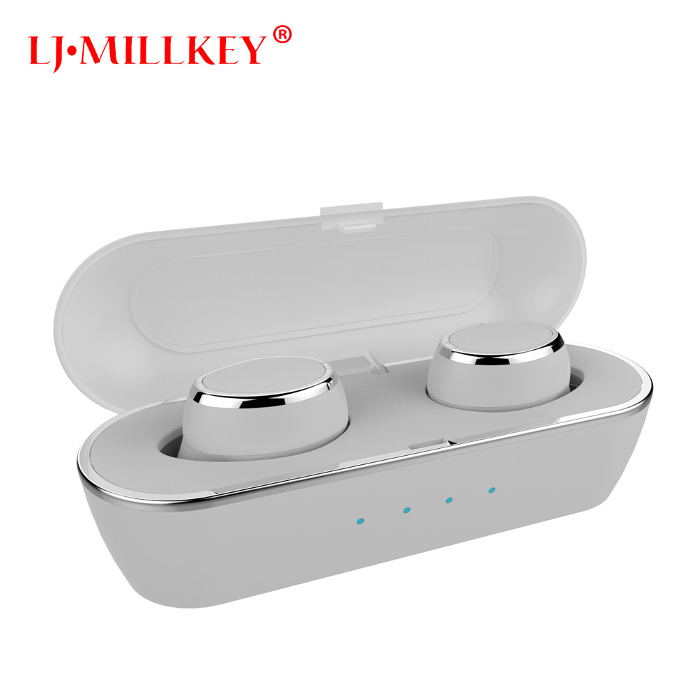 TWS bluetooth earphone true wireless earbuds with Charger Box Built-in Mic APTX Stereo Sports mini bluetooth headset YZ175 2017 new tws mini bluetooth headset stereo music earphone built in mic small wireless earbud with 2100mah recharge battery