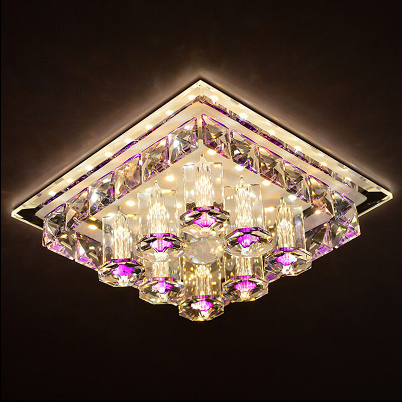 Modern simple LED square ceiling lamp crystal ceiling light for aisle corridor porch foyer living room decor lamp mx5231714Modern simple LED square ceiling lamp crystal ceiling light for aisle corridor porch foyer living room decor lamp mx5231714