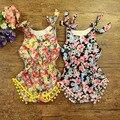 Venta al por menor de ropa de bebé 100% algodón de la impresión hermosa Mameluco Del Bebé, recién nacido conjunto Mameluco, ropa de bebé niñas