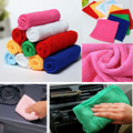 10pcs 25*25cm Microfibre Cleaning Auto Car Detailing Soft Absorbent Cloths Wash Cloth Towel Duster Car Cleaning Accessories