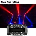 8*10W RGBW 4 IN 1 MINI LED Spider Moving Head Light Good Effect ใช้ดีสำหรับ DJ home Entertainment PARTY KTV ไนท์คลับเต้นรำ
