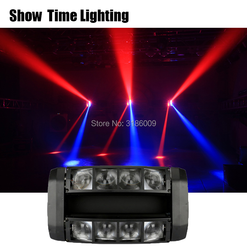 8*10W RGBW 4 IN 1 Mini Led Spider Moving Head Light Good Effect Use Well For DJ Home Entertainment Party KTV Nightclub Dance