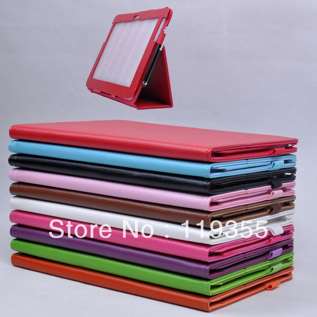 Free Shipping High Quality PU leather cover case for SAMSUNG n8000 n8010 holsteins tablet mount protective case litchi