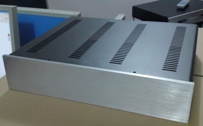 QUEENWAY 4309 Full aluminum chassis box shell panel case cover steel plate 430*90*360mm 430mm*90mm*360mm queenway np93 all aluminum without hole tube amplifiers dac decoder amp chassis case box 336mm 433mm 80mm 336 433 80mm