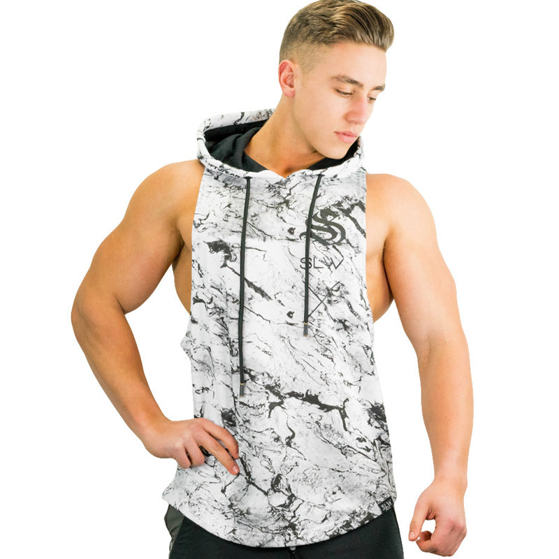 Mens Bodybuilding   Tank     Tops   Gyms Fitness Workout Sleeveless Hoodies Man Casual Fashion Hooded Vest Male Crossfit Brand Clothing
