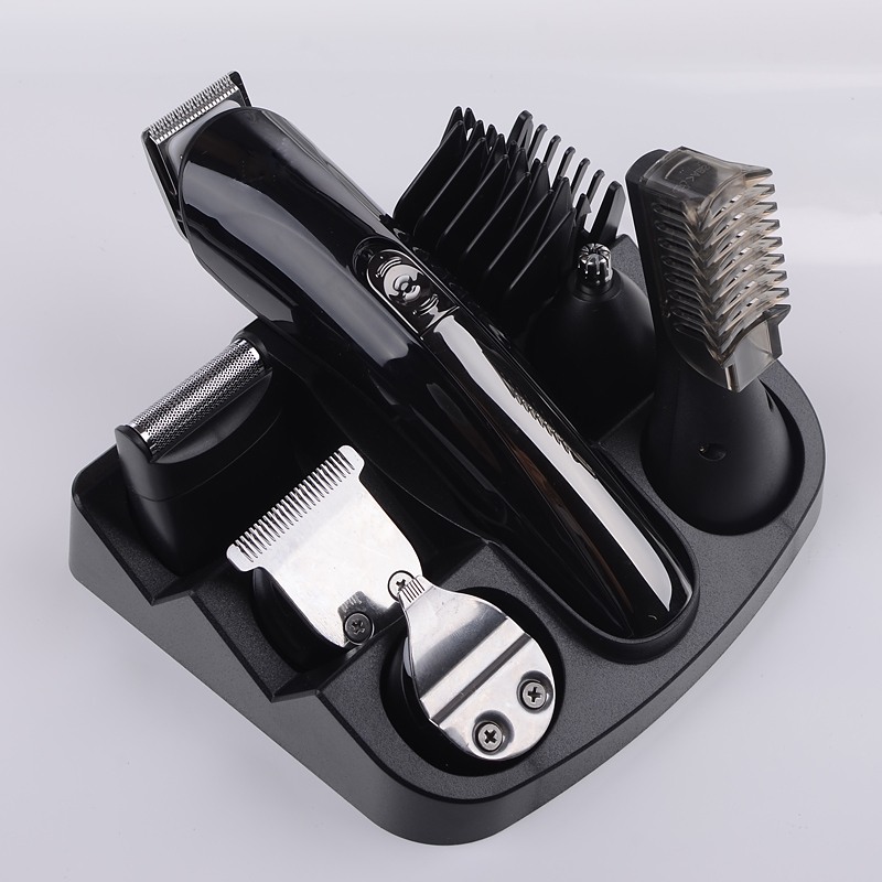 6 in 1 hair trimmer titanium hair clipper electric shaver Beard Shaping Tools shaving machine cutting hair cut molding Razor electric shaver hair clipper trimmer professional comb dry rechargeable beard razor shaving cutting machinemenbabyhaircutkit3236