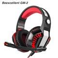Beexcellent GM-2 PC gamer Gaming headset Auriculares Auriculares Bass auricular de la Computadora con micrófono estéreo Con Cable LED para pc gamer