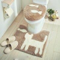 Japan Belle Maison Original single Universal High quality toilet seat cover Toilet Lid cover Cute toilet ring Bathroom Mat