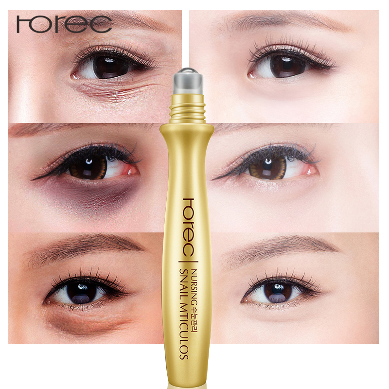 c028648c648 ROREC Anti-Wrinkle Snail Eye Serum Collagen Essence for Eyes Anti Puffiness  Against Bags Hyaluronic