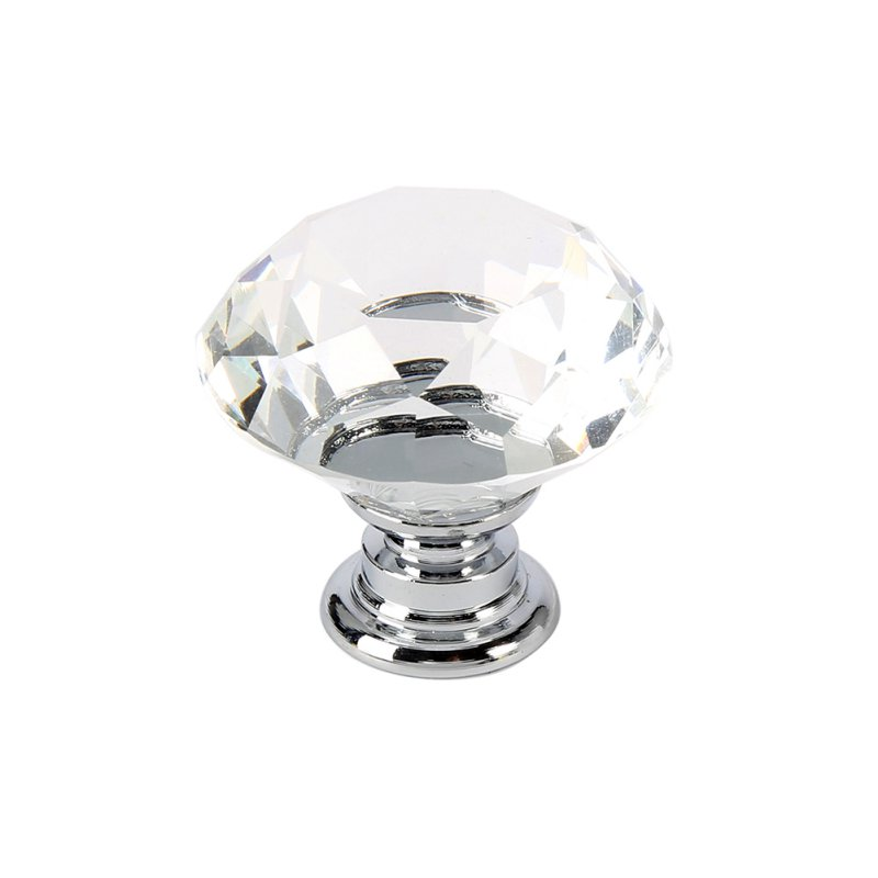 1 pc 30mm Cabinet Wardrobe Pull Handle Knobs Drop Diamond Crystal Drawer Pulls Glass Alloy Door Drawer css clear crystal glass cabinet drawer door knobs handles 30mm