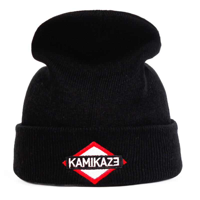 Eminem Latest Album Kamikaze Knitted Hat Hats Elastic Brand Embroidery   Beanie   Warm Winter   Skullies     Skullies   &   Beanies   Ski Cap