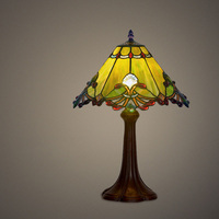 Retro Vintage Antique Home Art Deco Stained Glass Church Style Bedroom Bedside Nordic Desk Table Lamp Light For Living Room