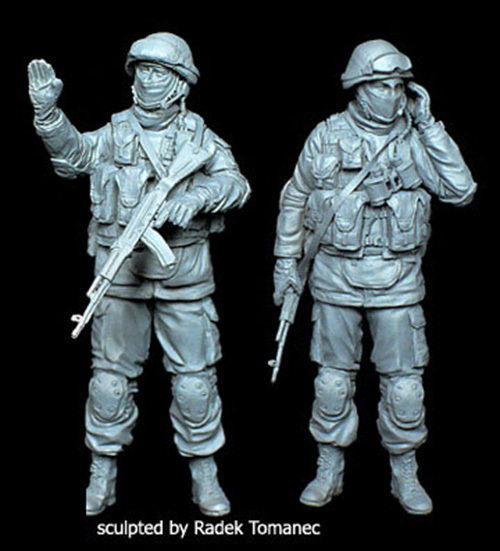 Resina kits sin pintar 1/35 el crimea ruso infantería 2 soldado juguetes libres del envío diy nuevo venir