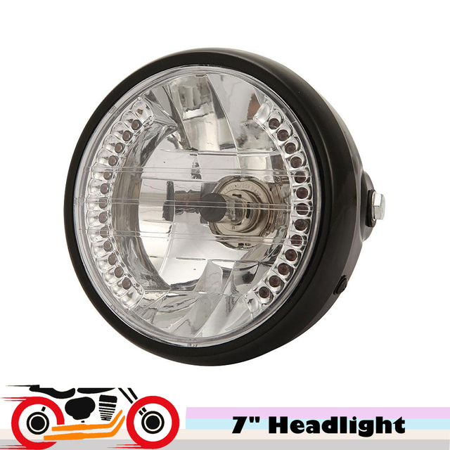 "12v 35w 7"" Motorcycle Halogen Headlight With LED Turn signals For Harley Bobber Custom Chopper Cafe Racer Cruiser Metric Bike"